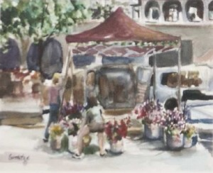"""Flower Market"" by Billie Swelstad"