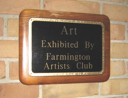 Library Exhibit Plaque
